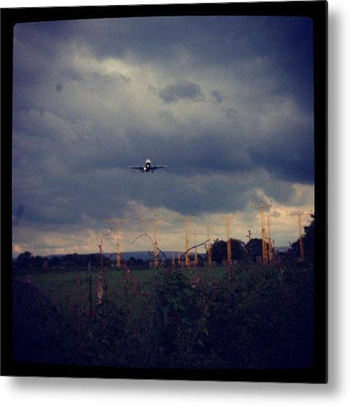 Metal Print featuring the photograph Airport Approach by Chris Jones