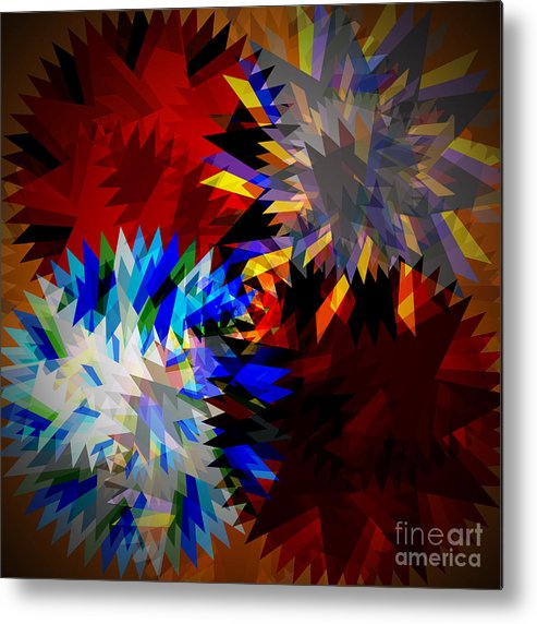 Allure Metal Print featuring the digital art Allure Blade by Atiketta Sangasaeng