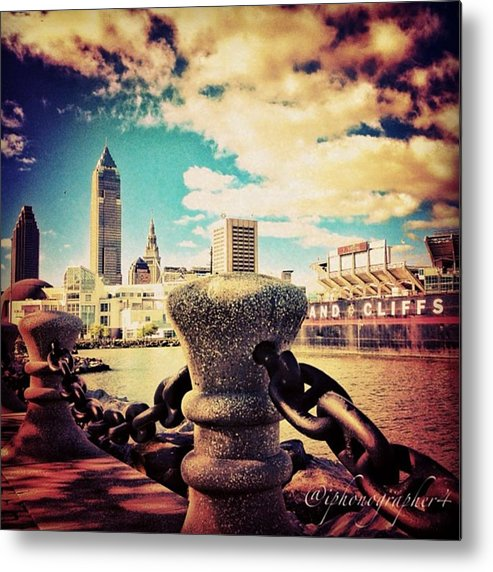 Beautiful Metal Print featuring the photograph #amazing View Of #dowtown #cleveland by Pete Michaud