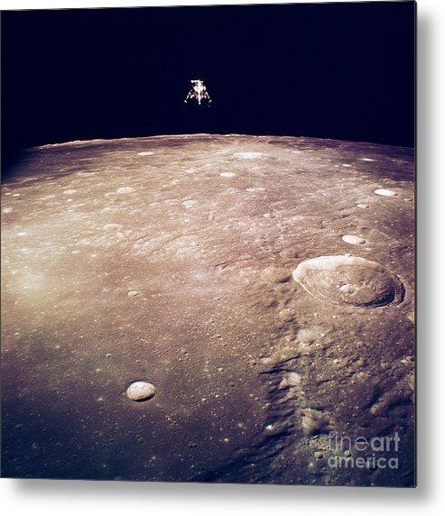 Apollo 12 Metal Print featuring the photograph Apollo 12 Lunar Lander by Nasa