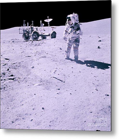 Apollo 16 Metal Print featuring the photograph Apollo Mission 16 by Nasa