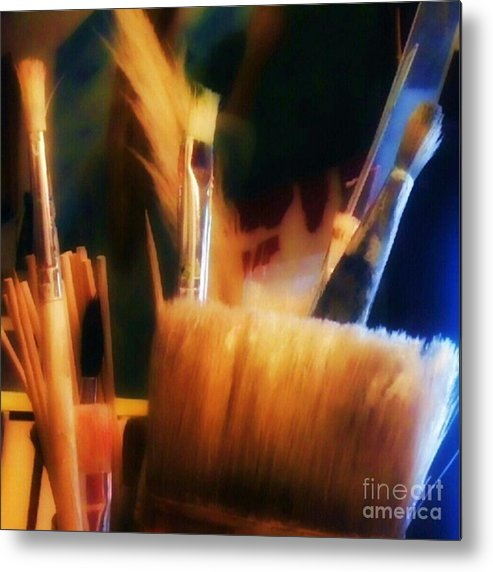 1stangel Metal Print featuring the photograph Artists Tools by YoursByShores Isabella Shores
