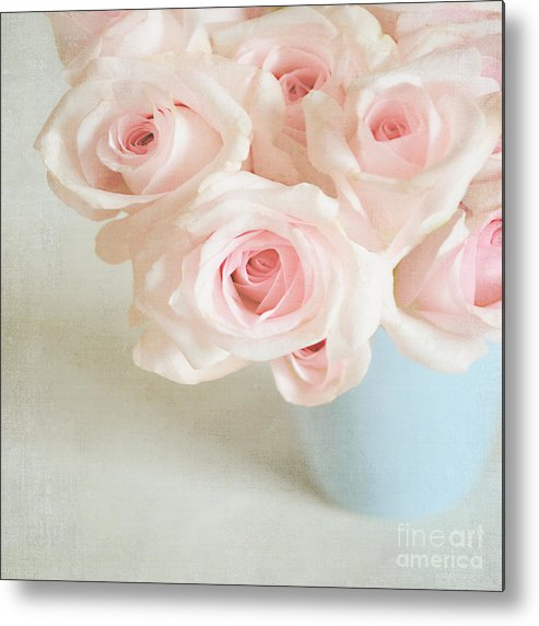 Roses Metal Print featuring the photograph Baby Pink Roses by Lyn Randle