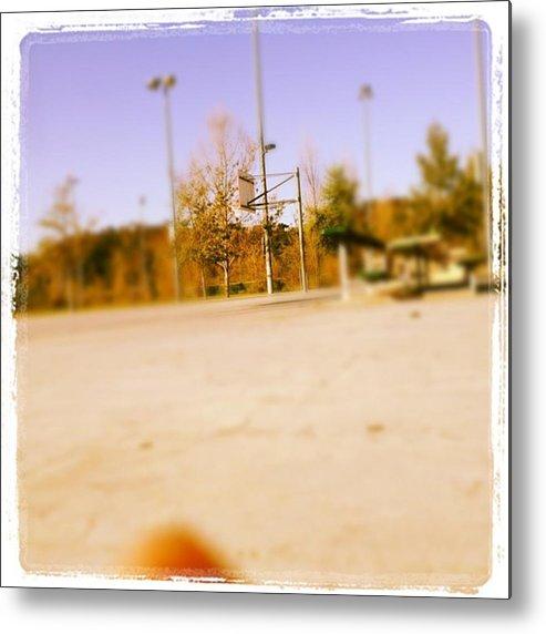 Basketball Metal Print featuring the photograph #basketball 🏀❤ Gonna Shoot Around by Nena Alvarez