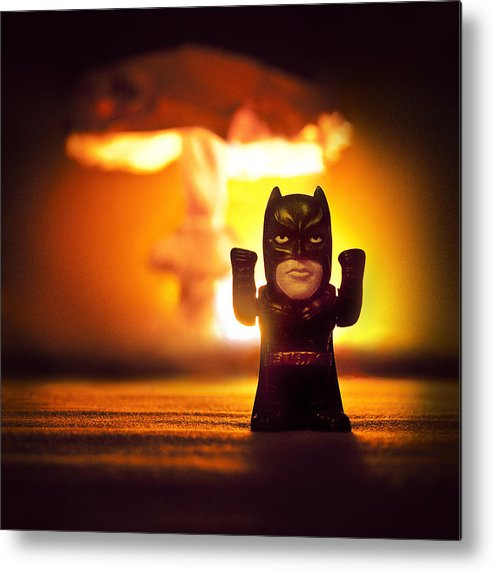 Boom Metal Print featuring the photograph Batman by Daria Curvehand