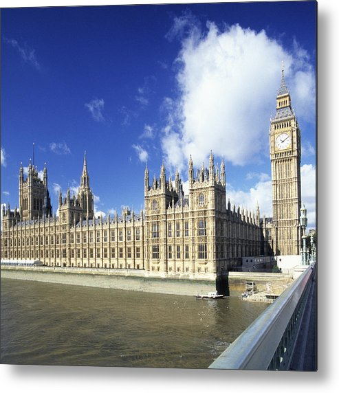 Square Metal Print featuring the photograph Big Ben And Houses Of Parliament, London, Uk by Hisham Ibrahim