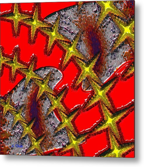 Blood Metal Print featuring the digital art Blood On The Wire by Alec Drake