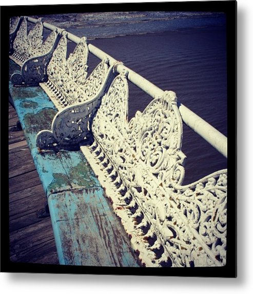 Metal Print featuring the photograph Branches On The Pier by Chris Jones