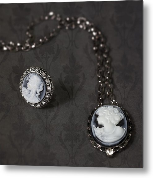 Brooch Metal Print featuring the photograph Brooch And Necklace by Joana Kruse