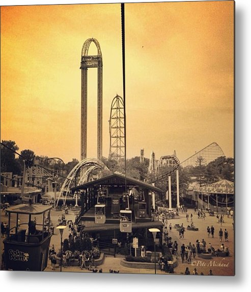Cedarpoint Metal Print featuring the photograph #cedarpoint #ohio #ohiogram #amazing by Pete Michaud
