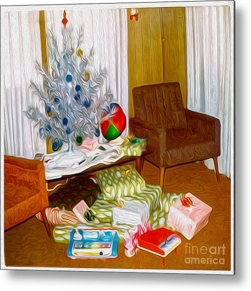 Retro Images Metal Print featuring the painting Christmas 1969 by Gregory Dyer