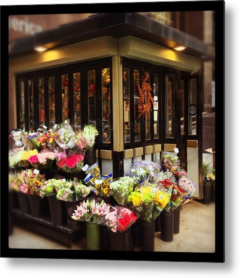 Metal Print featuring the photograph City Flowers by Mark Valentine