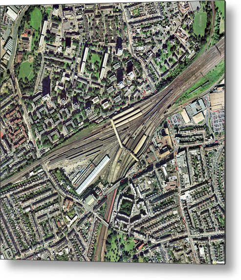 Clapham junction station aerial image metal print by getmapping plc clapham junction metal print featuring the photograph clapham junction station aerial image by getmapping plc reheart Choice Image