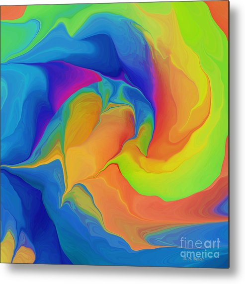 Abstract Metal Print featuring the digital art Cleansing The Heart by Deborah Benoit