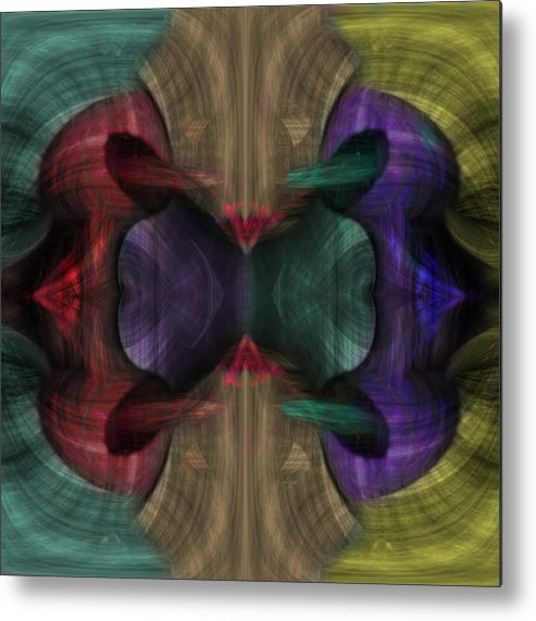 Conjoint Metal Print featuring the painting Conjoint - Multicolor by Christopher Gaston