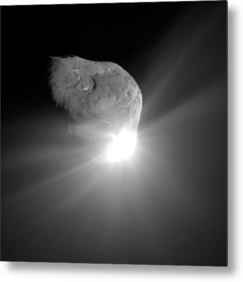 Tempel 1 Metal Print featuring the photograph Deep Impact Comet Strike by Nasa