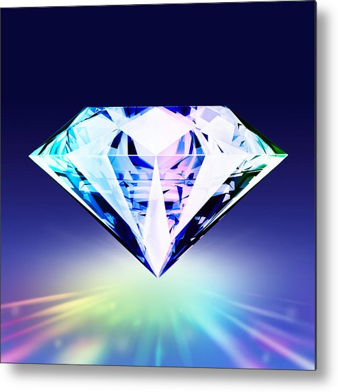 Background Metal Print featuring the jewelry Diamond by Setsiri Silapasuwanchai