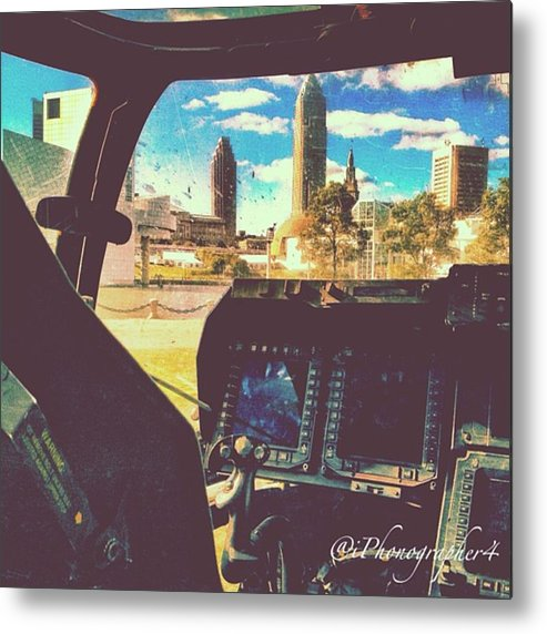 Beautiful Metal Print featuring the photograph #downtown #cleveland #ohio Threw The by Pete Michaud