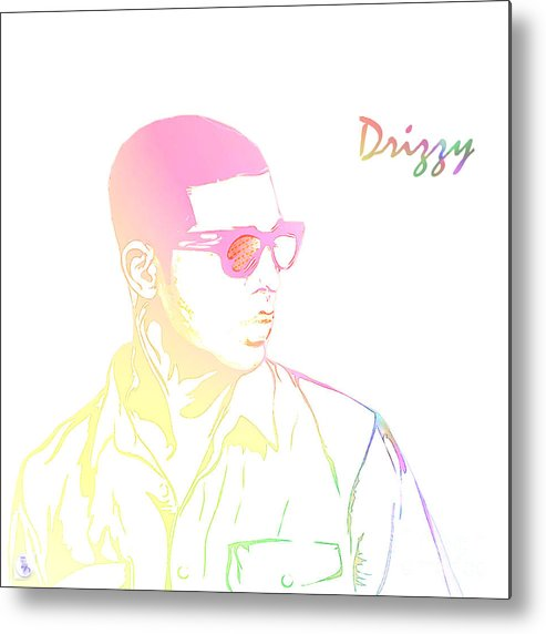 Drizzy Metal Print featuring the digital art Drizzy by The DigArtisT