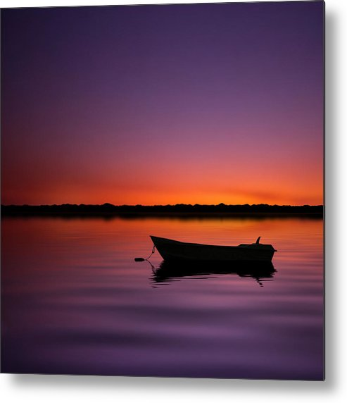 Square Metal Print featuring the photograph Enjoying Serenity by Carlos Gotay