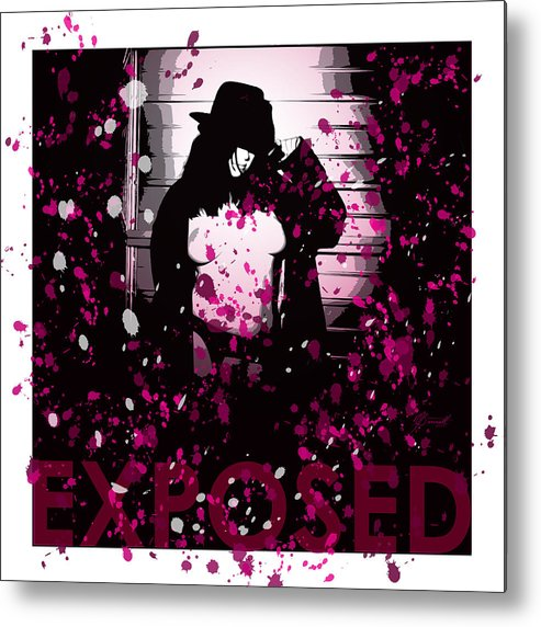 Exposed Metal Print featuring the digital art Exposed In Pink by Dana Bennett
