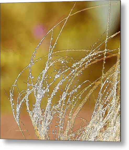 Grass Metal Print featuring the painting Fall Grass by Artist and Photographer Laura Wrede