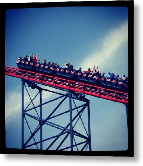 Metal Print featuring the photograph Final Destination: Blackpool by Chris Jones