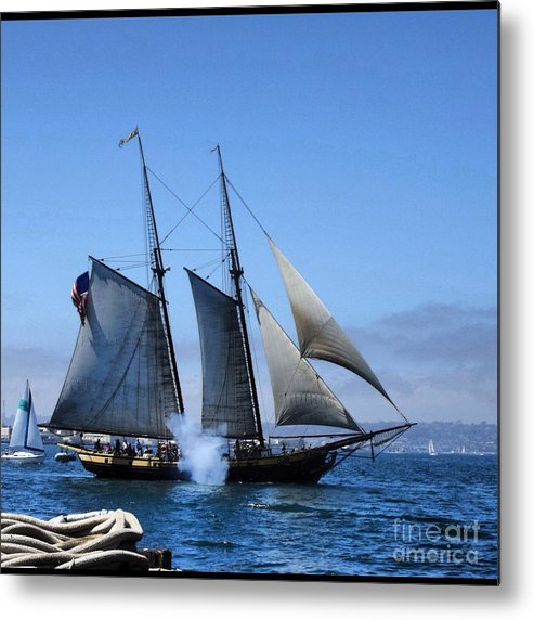 Ship Metal Print featuring the photograph Fire One by Phil Huettner