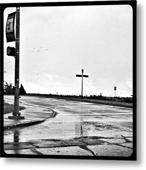 Andrography Metal Print featuring the photograph Flawed Streets, Flawless Sky by Kel Hill