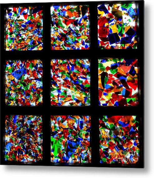 Square Metal Print featuring the photograph Fractured Squares by Meandering Photography