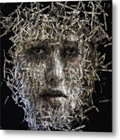Photo Metal Print featuring the digital art Fragments by Aref Nammari