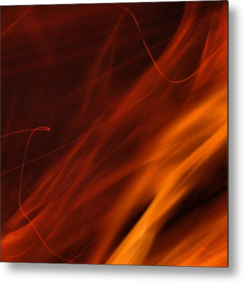 Metal Print featuring the photograph Fuego by Marie-Claude Charron