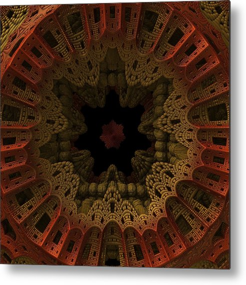 Fractal Metal Print featuring the digital art Gateway To The Unknown by Lyle Hatch