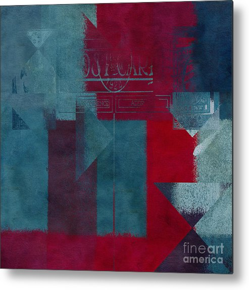 Abstract Metal Print featuring the digital art Geomix 03 - S330d05t2b2 by Aimelle
