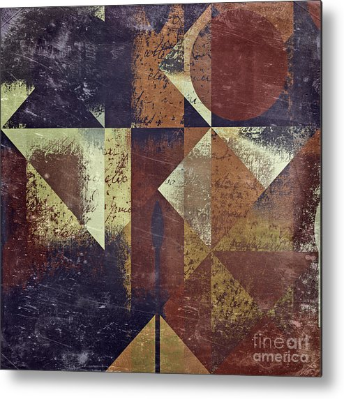 abstract Art Metal Print featuring the digital art Geomix 04 - 6ac8bv2t7c by Variance Collections