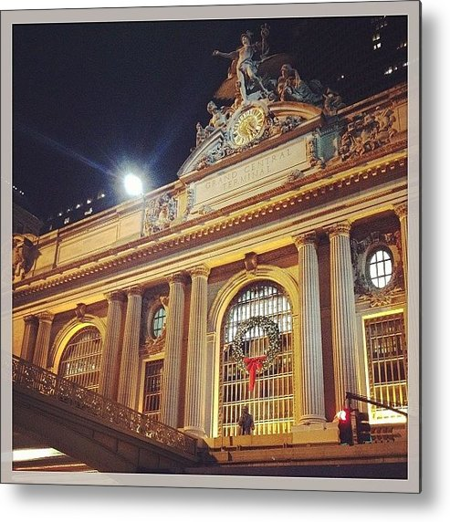 Europe Metal Print featuring the photograph Grand Central Christmas Wreath by Randy Lemoine