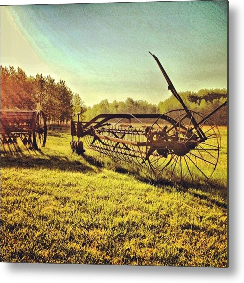 Photograhy Metal Print featuring the photograph Great Photo Of Some Old #farm Tools by Pete Michaud