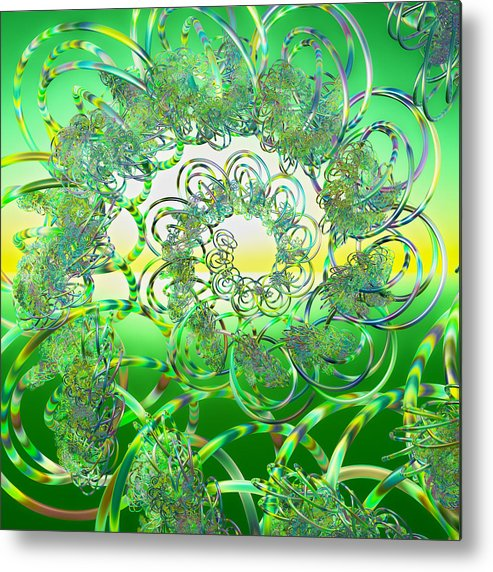 Fractal Metal Print featuring the digital art Hula by Betsy Knapp