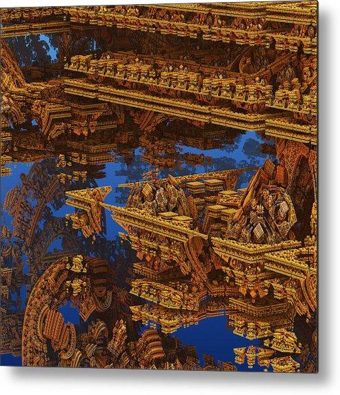 Galaxy Metal Print featuring the digital art Inca Gold In The Galaxy Pawnshop. by Tautvydas Davainis