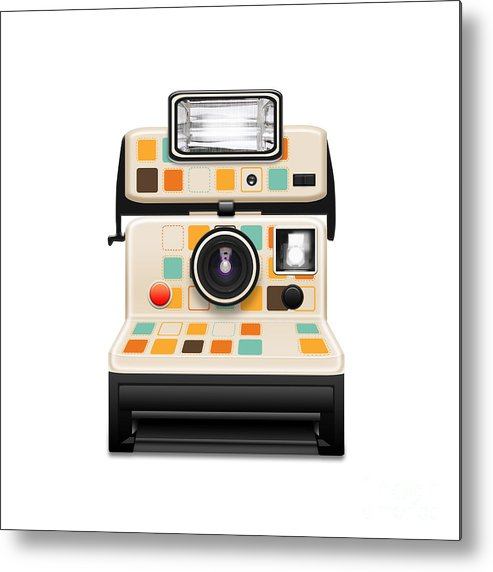 Analog Metal Print featuring the photograph Instant Camera by Setsiri Silapasuwanchai