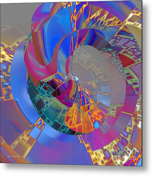 Abstract Metal Print featuring the digital art Into The Inner World by Deborah Benoit