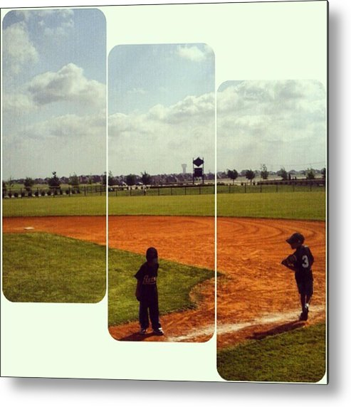 Andrography Metal Print featuring the photograph It Was A Great Day For Tball... #sports by Kel Hill