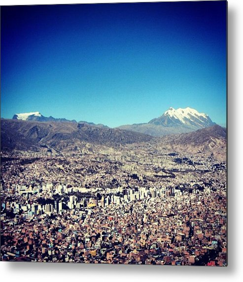 Metal Print featuring the photograph La Paz by Marie-Claude Charron