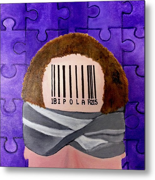Label Metal Print featuring the painting Labelled by Darren Stein
