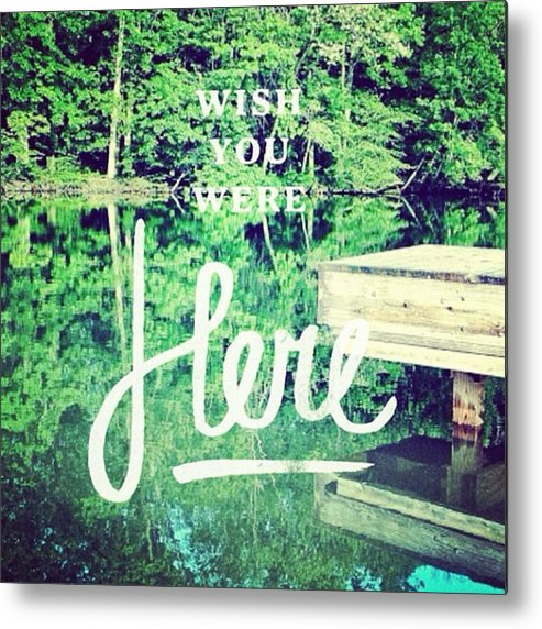 Love Metal Print featuring the photograph #lake #water #sign #amazing #tagstagram by Pete Michaud