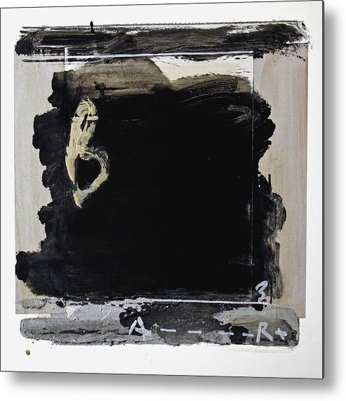 Abstract Metal Print featuring the painting Large B by Andrew Crane