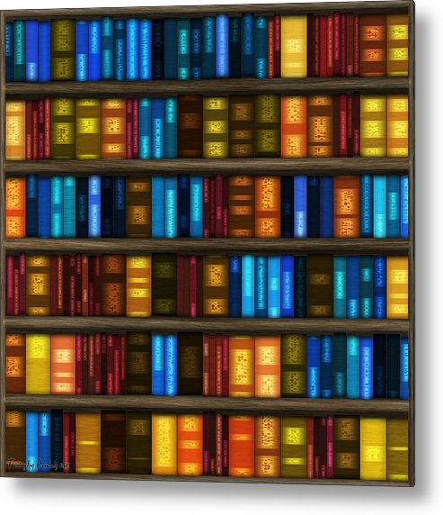 Bookseller's Metal Print featuring the digital art Last Bookseller's Life Story. by Tautvydas Davainis