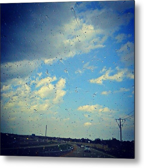 Andrography Metal Print featuring the photograph Light Showers In June... #instadroid by Kel Hill