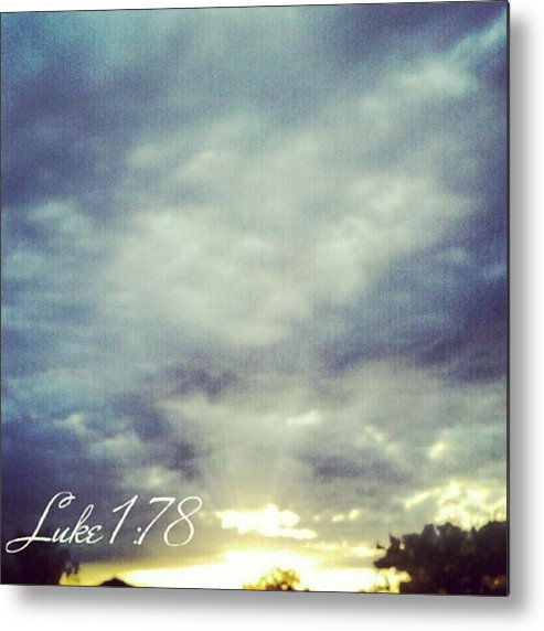 Andrography Metal Print featuring the photograph Luke 1:78 Esv  Because Of The Tender by Kel Hill
