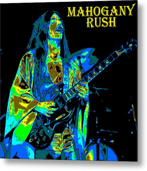 Frank Marino Metal Print featuring the photograph Mahogany Rush Seattle 1978 B by Ben Upham
